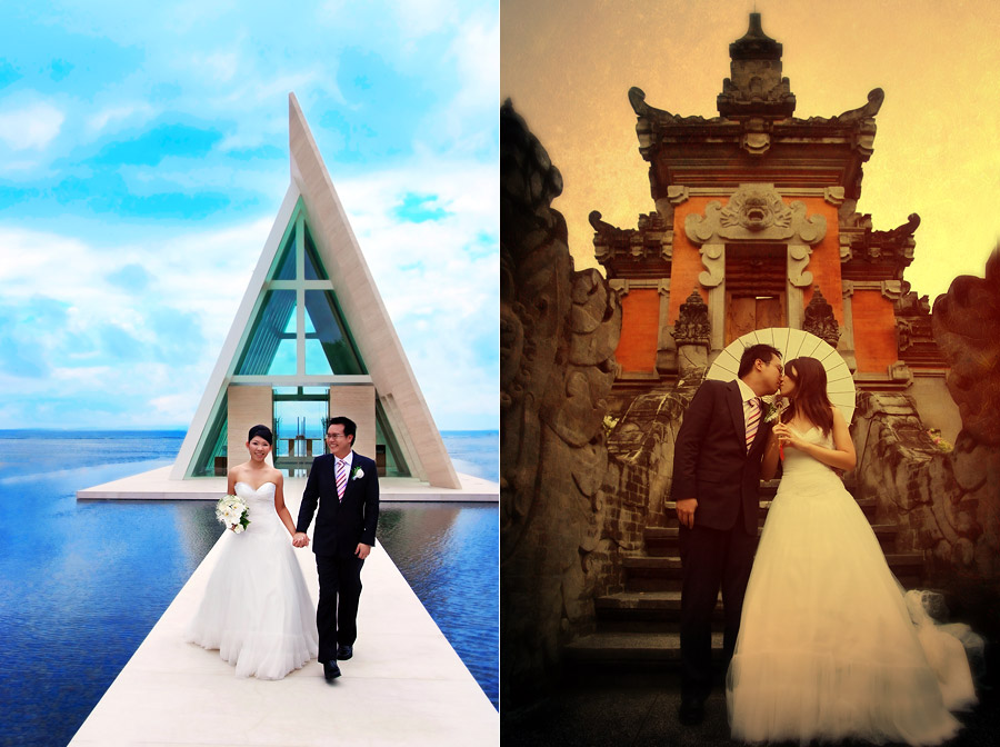 Conrad Infinity Chapel Bali wedding photographer